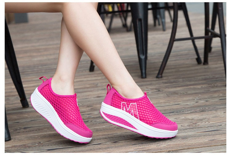 Breathable Air Mesh Platform Shoes