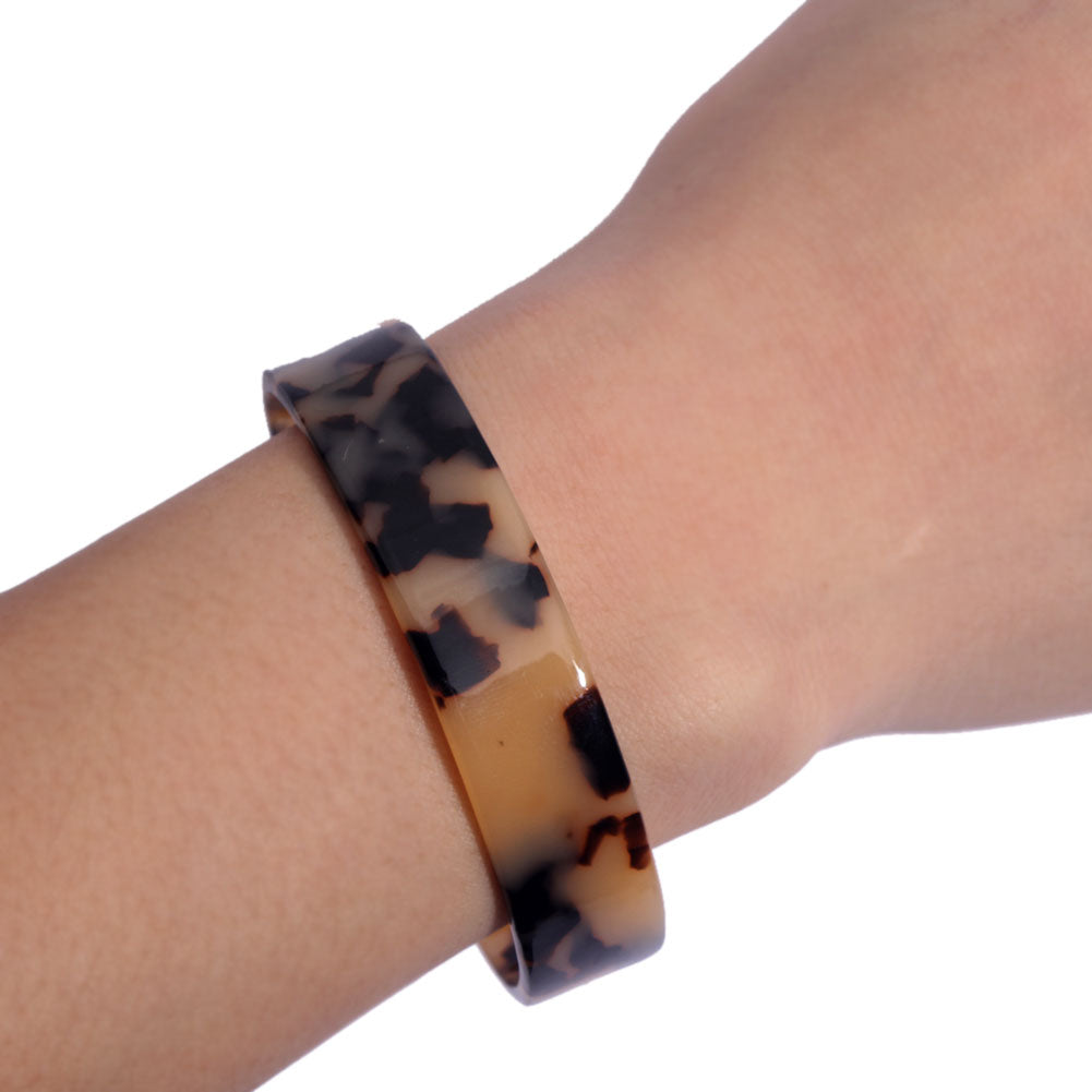 Leopard Print Leather Vintage Boho Bracelet Bangle