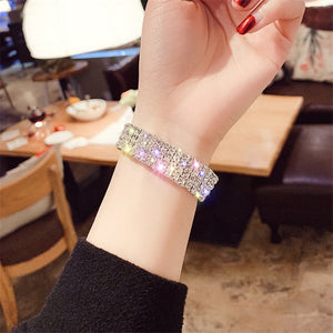 Classic Shiny Full Rhinestone Crystal Bracelet Bangle