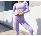 Solid Long Sleeve Breathable Compressed Eco-Friendly Quick Dry Sportswear