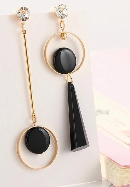Geometric Acrylic Long Dangling Earrings
