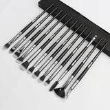 12-Pc Synthetic Hair Plastic Handle Blending Makeup Brush Set