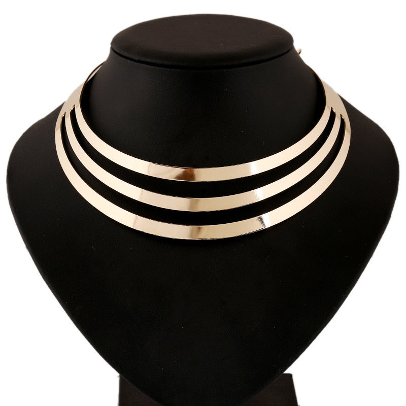 Multilayer Punk Collar Choker Necklace