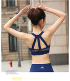 Mesh Texture High Impact Cropped Top Running Pad Push Up Sports Bra