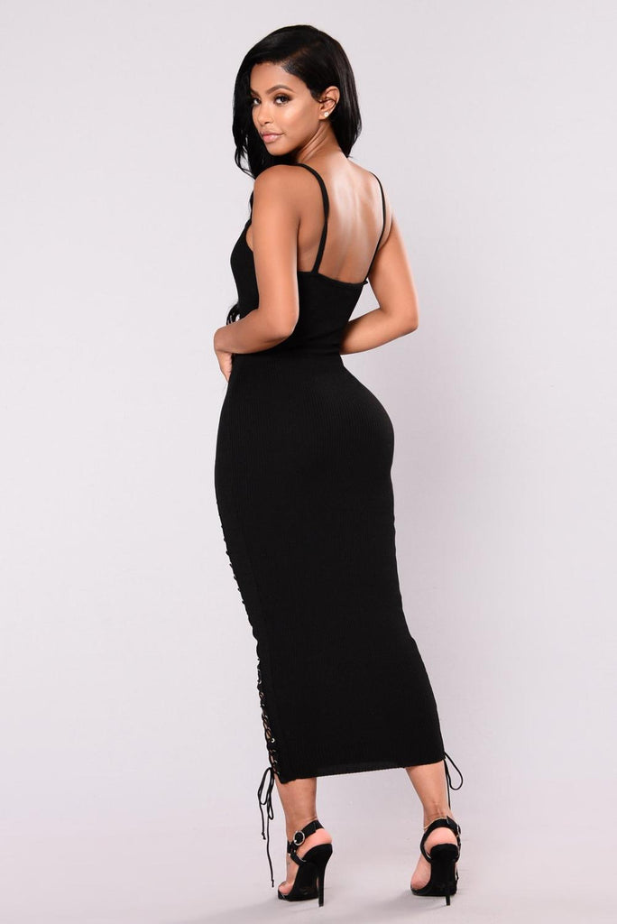 Spaghetti Strap Sleeveless Sheath Bodycon Dress
