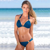 Halterneck Push Up Bra High Waist Bikini