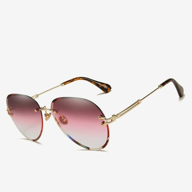 Rimless Polycarbonate Aviator Sunglass