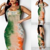 O-Neck Sleeveless Spaghetti Strap Bodycon Dress