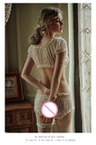 Sheer Stars Ultra-thin Gauze Ruffles Off Shoulder Sleeve Pajamas Set