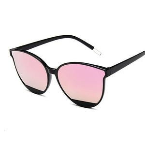 Classic Anti Reflective Plastic Cat Eye Sunglasses