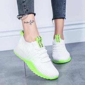 Air Mesh Breathable Lace Up Running Sport Sneakers