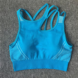 Seamless Hollow Back Sleeveless Top High Waist Short Sportswear