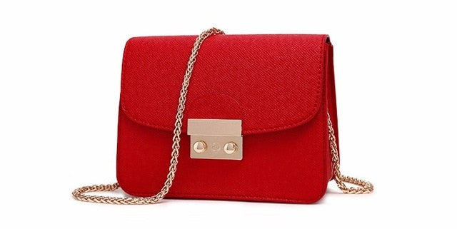 Tote Messenger Chain Leather Small Clutch Shoulder Mini Bag