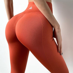 High Waist Workout Push Up Seamless Leggings