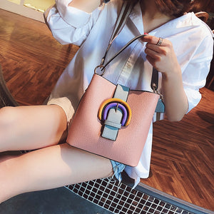 Bucket Hasp Designed Buckle Shoulder Bag