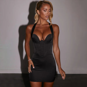 Bandage Sleeveless Backless Elegant Bodycon Dress