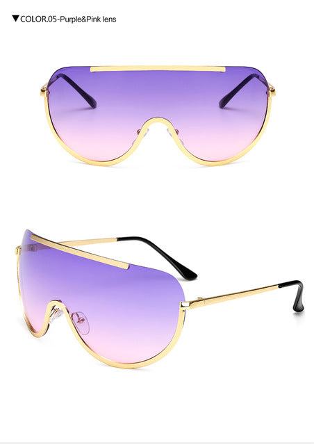 Clear Oversized Visor Sunglasses