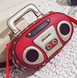 Fun Personality Retro Radio Design Flap Handbag
