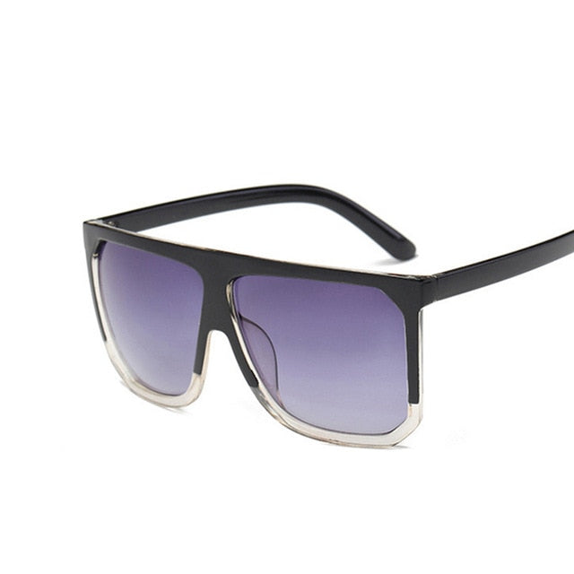 Big Rectangle Luxury Retro Sunglasses