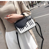 Piano Pattern Pu Leather Casual Crossbody Bag