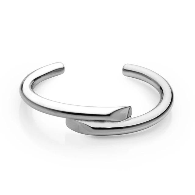 Simple Line Design Cuff Bracelet Bangle