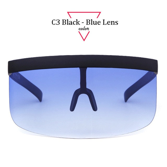 Oversize Shield Visor Sunglasses