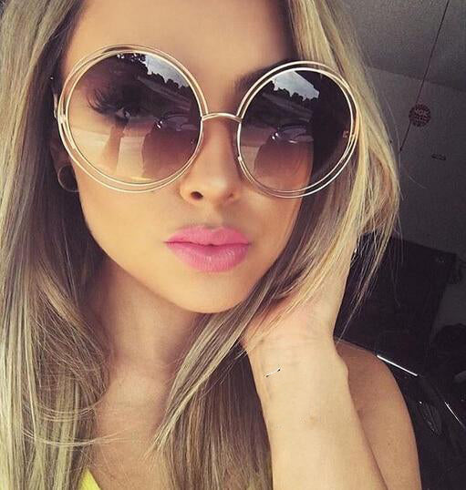 Stainless Steel Metal Round Sunglasses