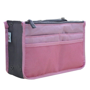 Solid Box Shaped with Mesh Pouch Waterproof Foldable Makeup Bag