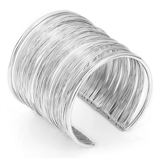 Round Wide Open Cuff Bracelet Bangle