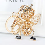 Rhinestone Honeybee Pendant Key Chain