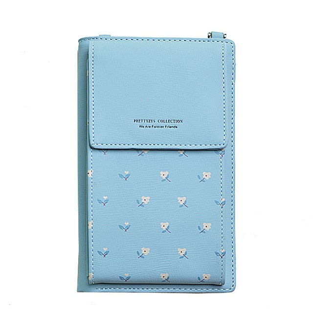 Multi-functional Flower Prints Cell Phone Mini Bag