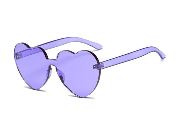 Colorful Heart  Retro Sunglasses