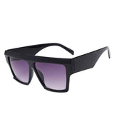 Flat Top Resin Square Sunglasses