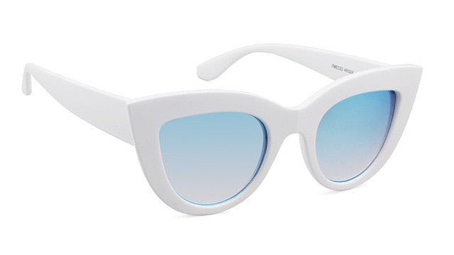 Goggle  Mirror Cat Eye Sunglasses