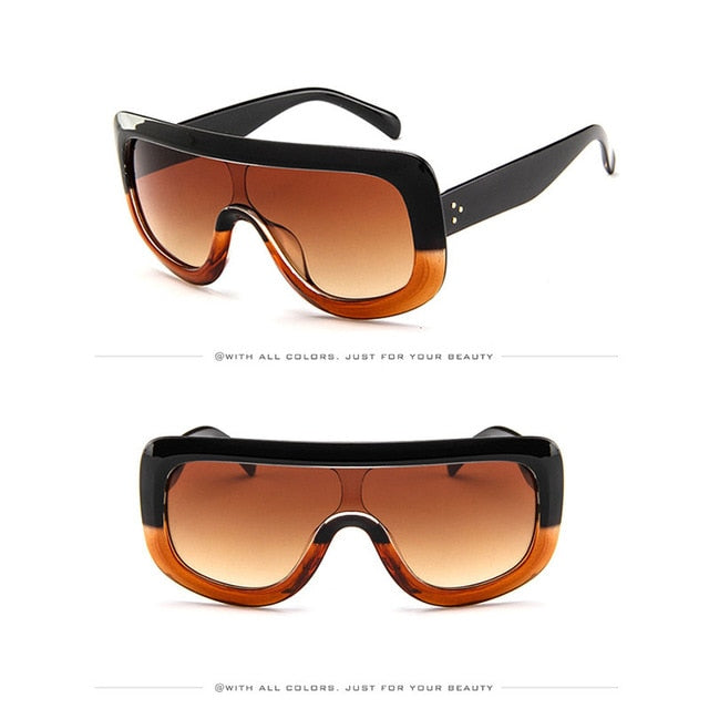 Luxury Lion Big Frame Visor Sunglasses