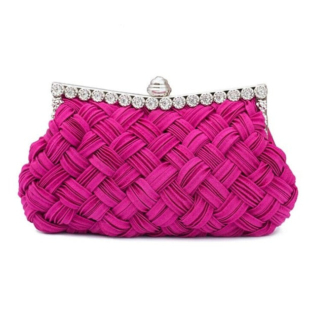 Elegant High-grade Woven Silk Clutch Bag