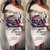 Fashion Casual Slim Mini  Bodycon Dress