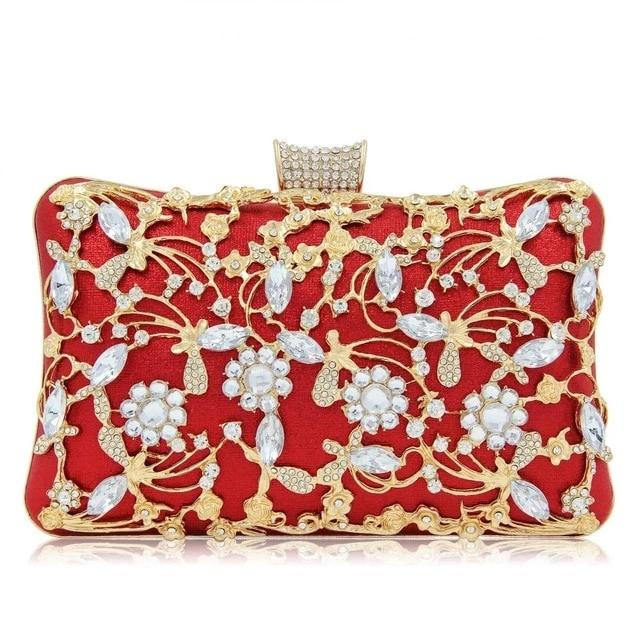 Party Wedding Crystal Clutches Purse Crossbody Bag