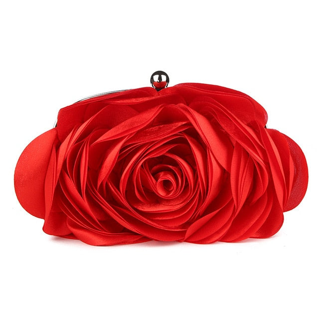 Flower Design Hasp Clutch Bag