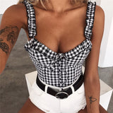 Off Shoulder Ruffle Bow Knot Lace Up Crop Top