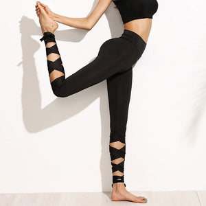 Ballerina Yoga Cross Strap Leggings