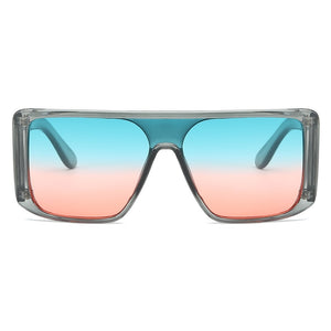 Retro One-Piece Mirror Big Frame Oversized Square Sunglasses