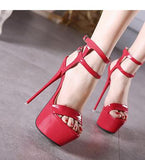 Ankle Strap Open Toe Party High Heel