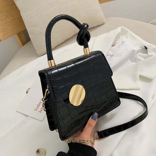 Quality Stone Pattern Leather Handbag