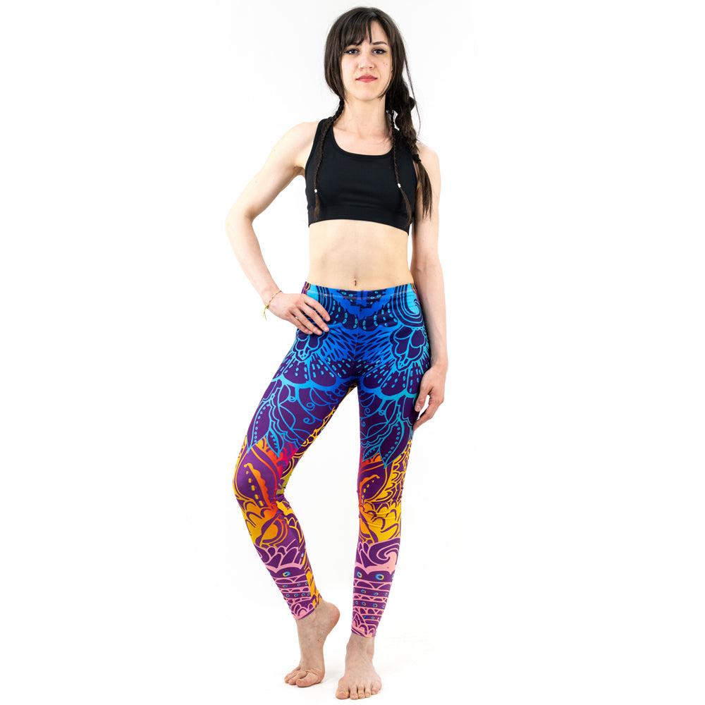 Mandala Print Stretch Slim Bottoms Leggings