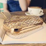 Solid Hollow Metal Personality Shoulder Bag