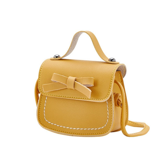 Mini Sweet Bow PU Leather Crossbody Bag