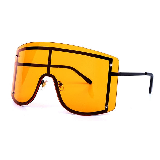 Oversized Gradient Visor Sunglasses
