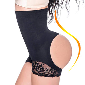 Lace Trim Tummy Control Pulling Waist Trainer Butt Lifter