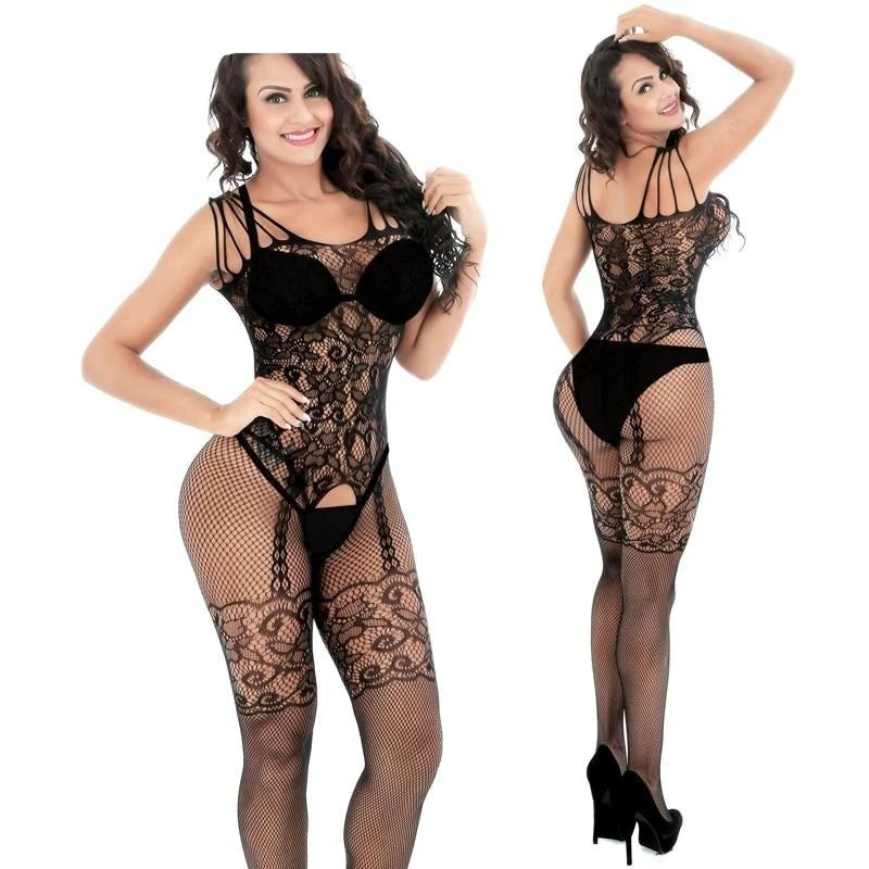 Hollow Full Body Stocking Bodysuit